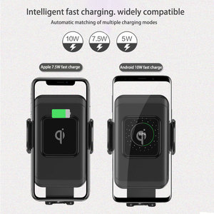 Image 5 - wireless car charger for iphonex xs automatic induction qi wireless car holder for samsung s8 s9 rotatable car charger bracket