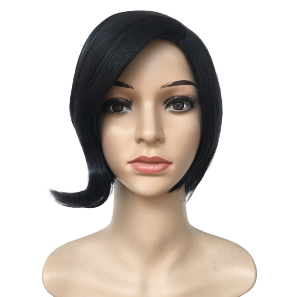 Rush Sale! Women Lady Fashion Synthetic Short Straight BOB Black Color Women's Wigs Natural Hair Wigs Peluca Gift Dropshipping