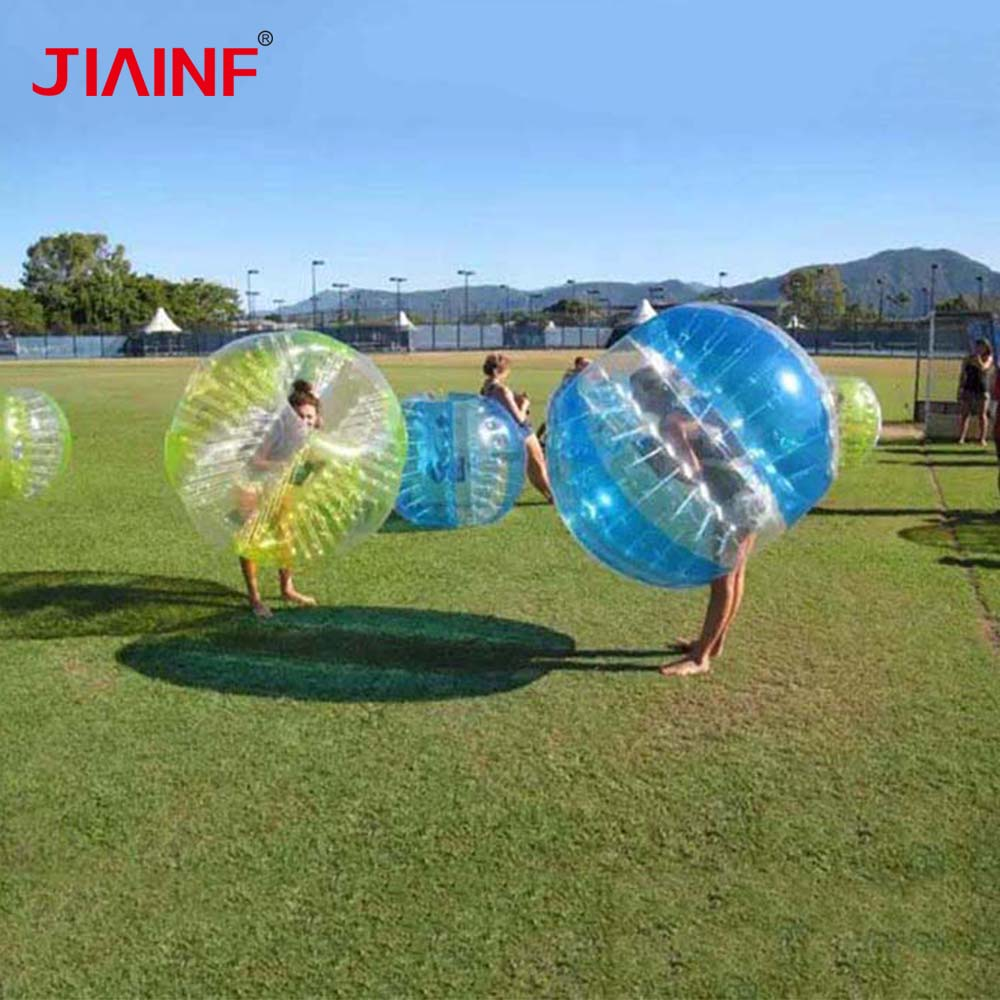 1 1,8 m TPU balón de fútbol de burbuja de aire colorido parachoques Zorb balón de fútbol para niños niñas adultos familia al aire libre pelota de juego niños deportes-in Castillos hinchables from Juguetes y pasatiempos    1