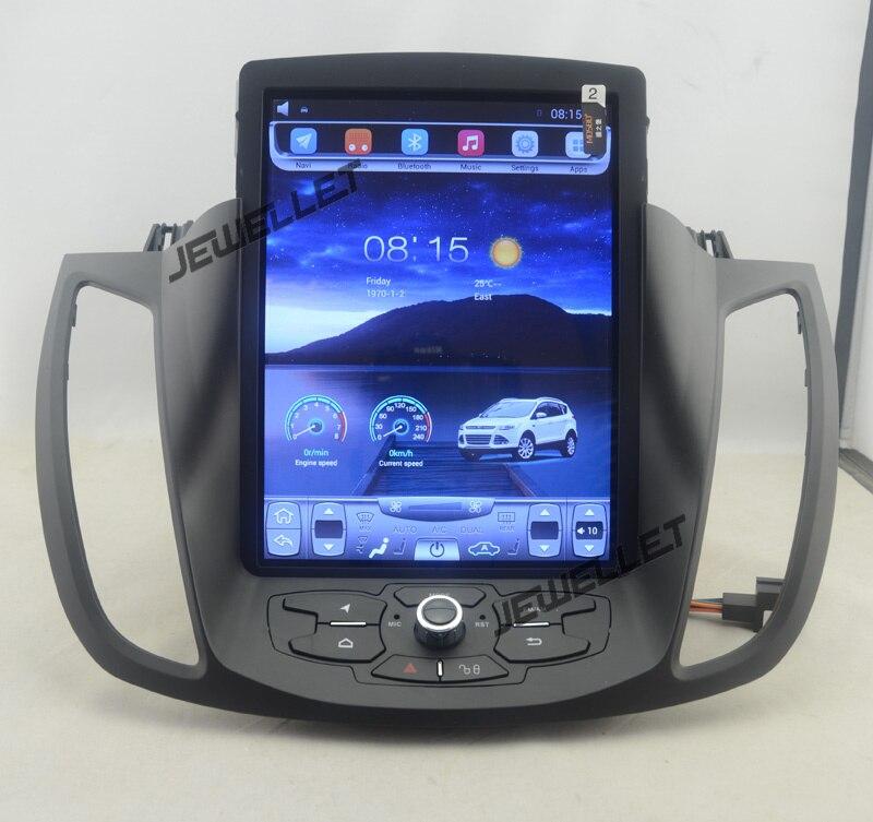 10.4 tesla style vertical écran android 4.4 Quad core De Voiture GPS radio Navigation pour ford kuga 2013-2016
