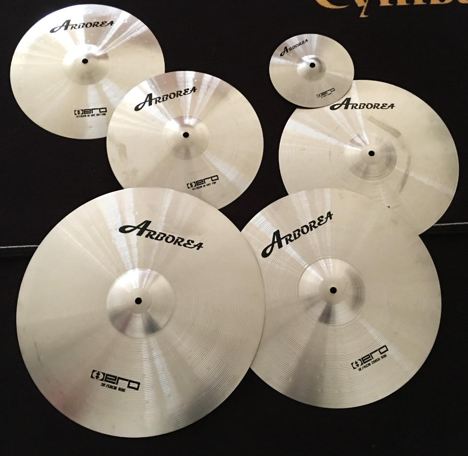 "Arborea  Practice Cymbal Including 14""hihat+16""crash+18""crash+20""ride"