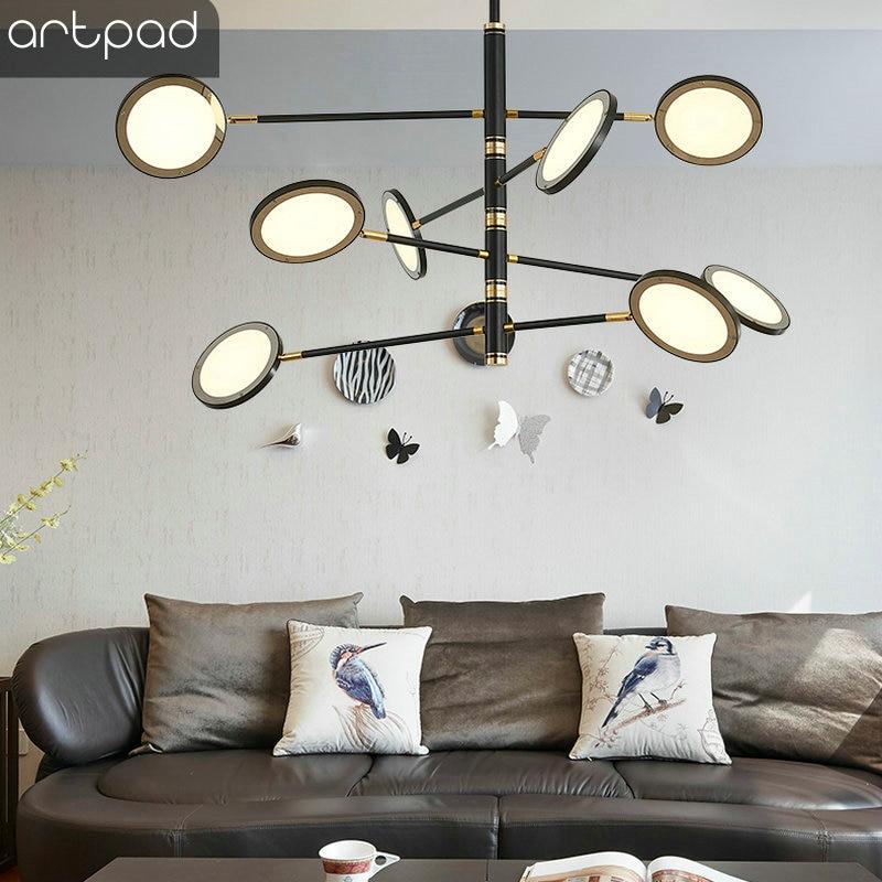 Nordic дизайнер декоративный потолочный Лампа на 360 градусов прикрепляемый к потолку светодиоидное освещение для Спальня Гостиная обеденный