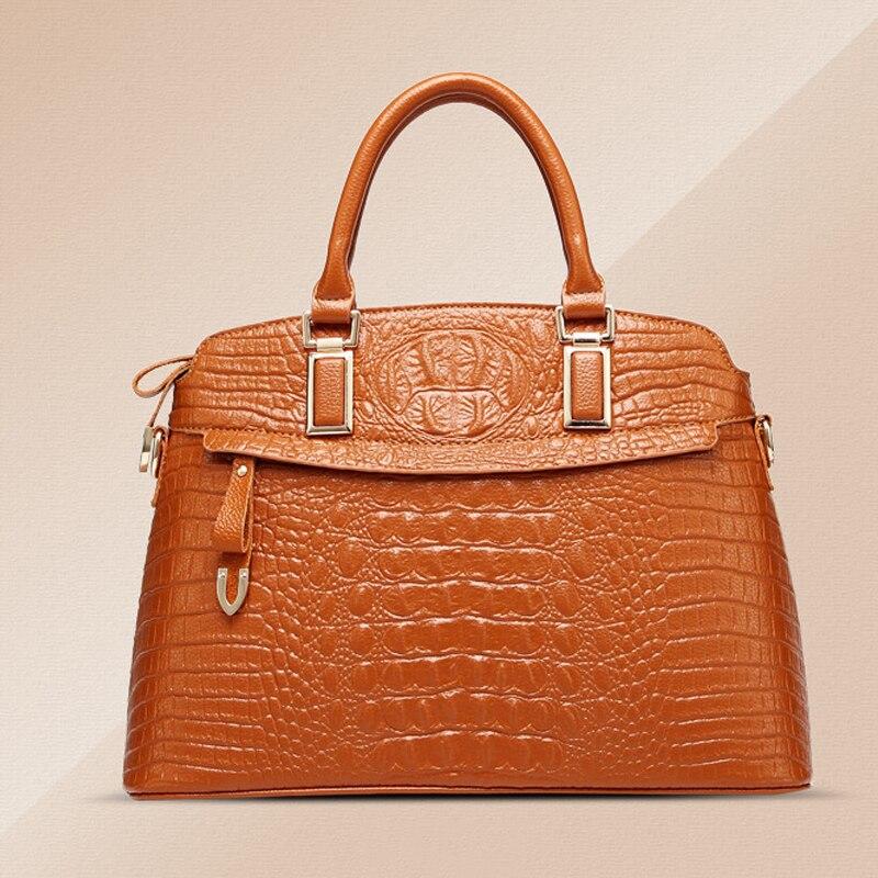 Новые модные женские туфли сумка Женская Ретро сумка Роскошные Змея сумки на плечо дизайнер Сумки кожа крокодила шаблон Сумки