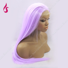 Synthetic Full Lace  Wig Silky Long Straight  150% High Density  Cosplay Wig style Purple Heat Resistant Hair Wig !!