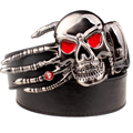 Fashion Punk rock belt Metal buckle Skull Palm Devil hand women belts Decorative Strap men Leather belt Hipster Street hip hop
