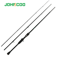 JOHNCOO 2 1 m Carbon-Casting Stange L Power 2-10g 3 Abschnitte Forelle Angeln mit K serise Ringe stream Tod Schnelle Action Spinning Rod