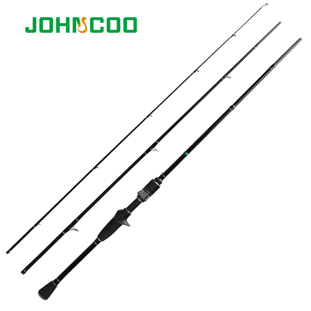 JOHNCOO 2.1m Carbon Casting Rod L Power 2 10g 3 Sections Trout Fishing with K serise Rings Stream Tod Fast Action Spinning Rod|trout fishing|rod l|spinning rod - title=