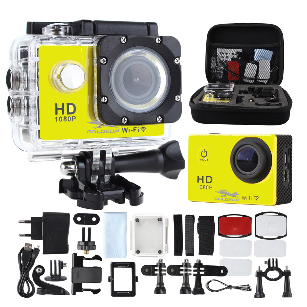 лучшая цена SJ4000 WIFI Action Camera Diving 30M Waterproof 1080P Full HD Go Underwater Helmet Sport Camera Sport DV 12MP Photo Pixel Camera