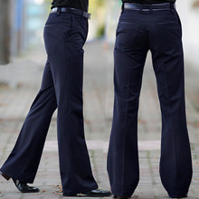 Flared Trousers Pant Bell-Bottom Men's Size 28-29-30 31 32-33 34 36-37 Dance White New