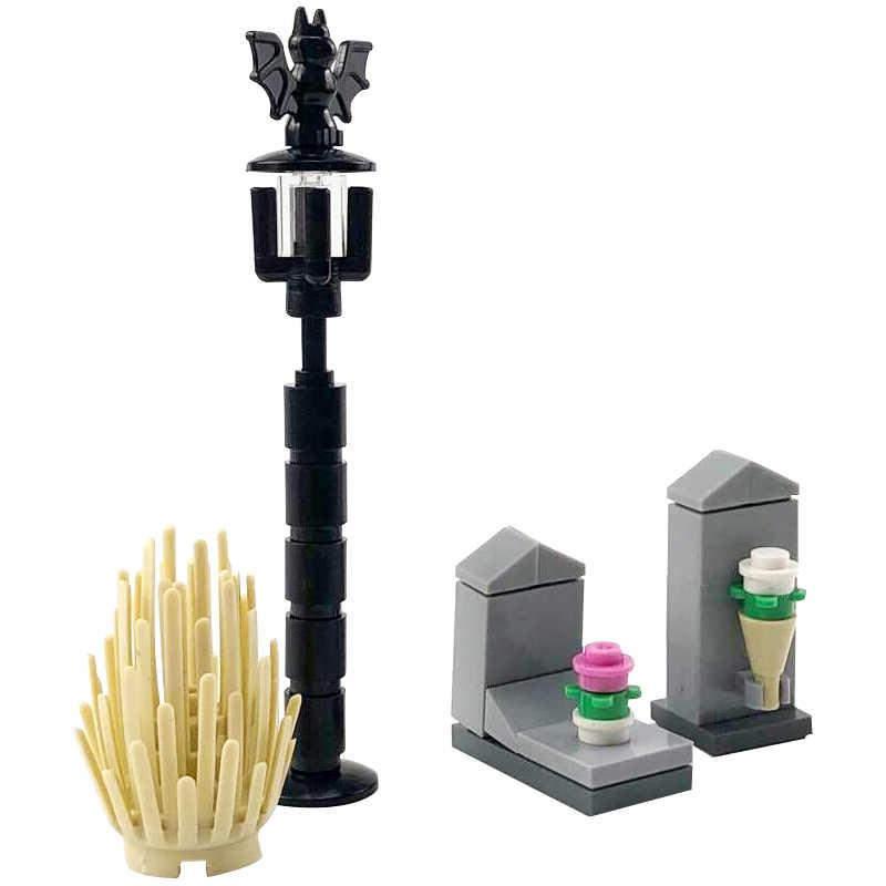 נעילה בורא MOC ליל כל הקדושים קבר שלד DIY בניין ערכות צעצועים לילדים תואם אביזרי Creative נעילת בלוק