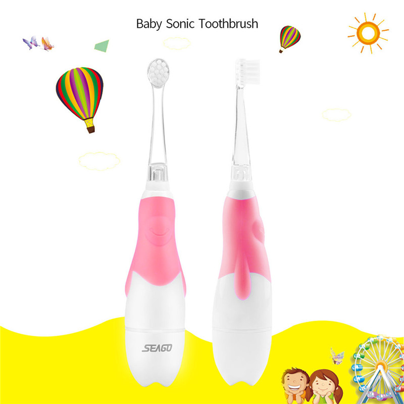 Sonic Wave Vibration Kids Electric Toothbrush Soft Child Cute Toothbrush Waterproof Baby Teeth Deep Clean Brush Dental Care 31 image