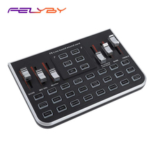 FELYBY Live Sound Card Portable Mobile Audio Mixer Karaoke Recording for Broadcast K Songs Chatting