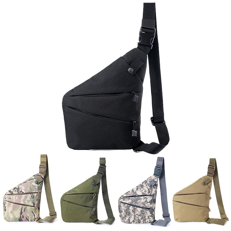 Multifunctional Waterproof Wear Resistant Concealed Chest Bag Tactical Storage Bag Anti-Theft Hunting Left/Right Shoulder Bag Fo