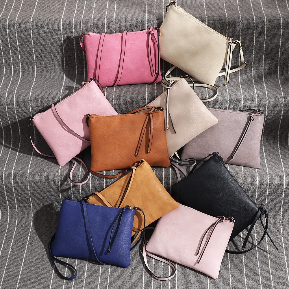 Womens Leather Purse Satchel Cross Body Zipper Shoulder Bag Messenger Bag 3.8