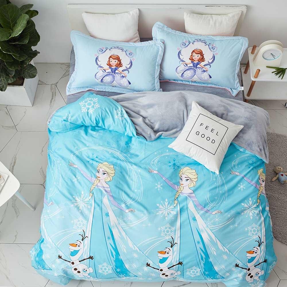 Cheap Bedroom Sets Kids Elsa From Frozen For Girls Toddler: Disney Frozen Elsa Bedding Set Children's Girls Kid Flat