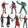 Los Vengadores 16 cm Capitán América Wolverine Thor Spiderman Batman Figuras de Acción Juguetes 7 unids/lote envío gratis