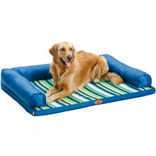 Hoopet Pet Summer Mat Cooling Large Dog Bed Cushion Stripe Sleeping Pad