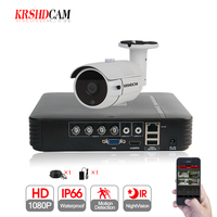 KRSHDCAM 1CH AHD KIS 1080N 5in1 DVR 1PCS 3000TVL CCTV Camera Waterproof Outdoor Security bullet Home Video Surveillance XMEYE