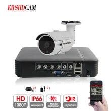 KRSHDCAM 1CH CCTV System 1080N 5in1 AHD DVR 1PCS 3000TVL Waterproof Outdoor Security bullet Camera Home Video Surveillance XMEYE