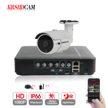 KRSHDCAM 1CH CCTV System 1080N 5in1 AHD DVR 1PCS 3000TVL Waterproof Outdoor Security bullet Camera Home Video Surveillance XMEYE