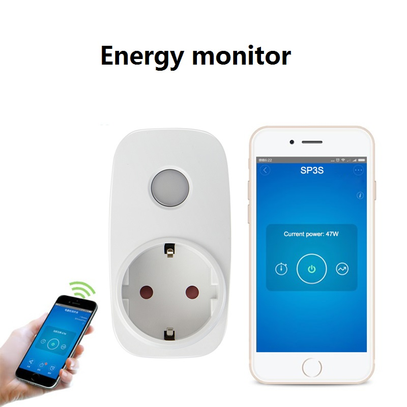 Updated Broadlink Sp3s wireless remote control outlet smart socket with power consumption smart control controller IOS Android