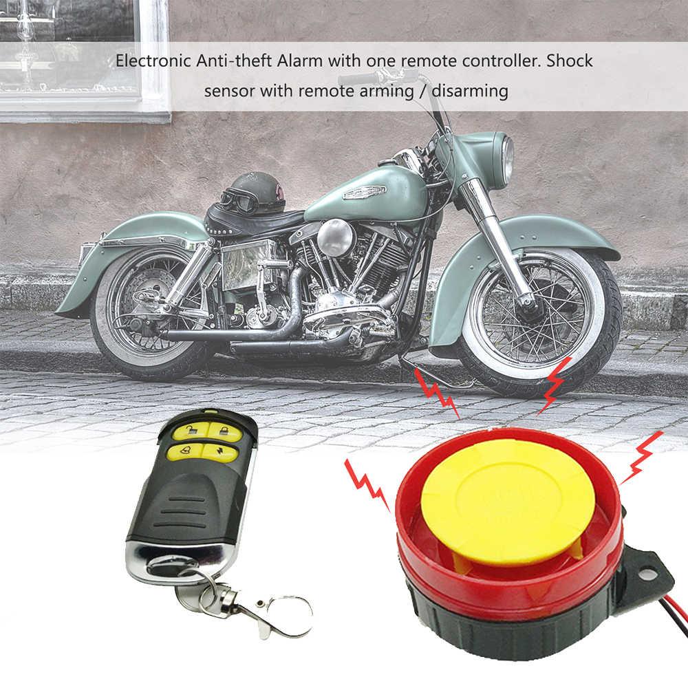 Eafc 12 V Mobil Skuter Sepeda Motor Alarm Sistem Kunci Sepeda Motor Anti Pencurian Klakson Alarm Peringatan Keamanan System dengan Remote Control