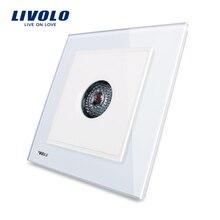 Livolo REINO estándar Nueva Luz de la Pared Interruptor de Control de Sonido, AC 110 ~ 250 V, 40 S, Panel de Cristal Cristal Blanco, VL-W291SG-12