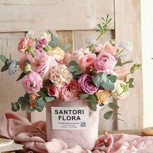 1 шт. hug сумки цветок ткань коробки в Корейском стиле розового коробка ко Дню Святого Валентина флористическая Подарочная вечерние подарочной упаковке коробка для праздника вечерние поставки Дек