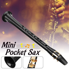 Black LittleSax Mini Sax Portable C Key Saxophone ABS Lightweight Sax Musical Instruments with Carrying Bag for Begginer(China)