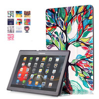 PU Leather Stand Cover Case For Lenovo Tab2 Tab 2 A10 30 A10 30 X30F TB2