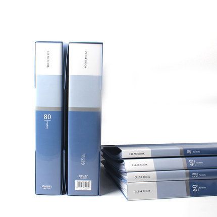 Office Stationery Business A4 Clear Book 20 30 40 60 80 100 Pockets File Folder Doent Presentation In From School