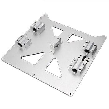 Алюминиевая Y каретка анодированная пластина с Sc8Uu Pgrade Prusa I3 V2  Горячая опорная решетка пластина для Prusa I3 Reprap Diy 3d принтер Часть