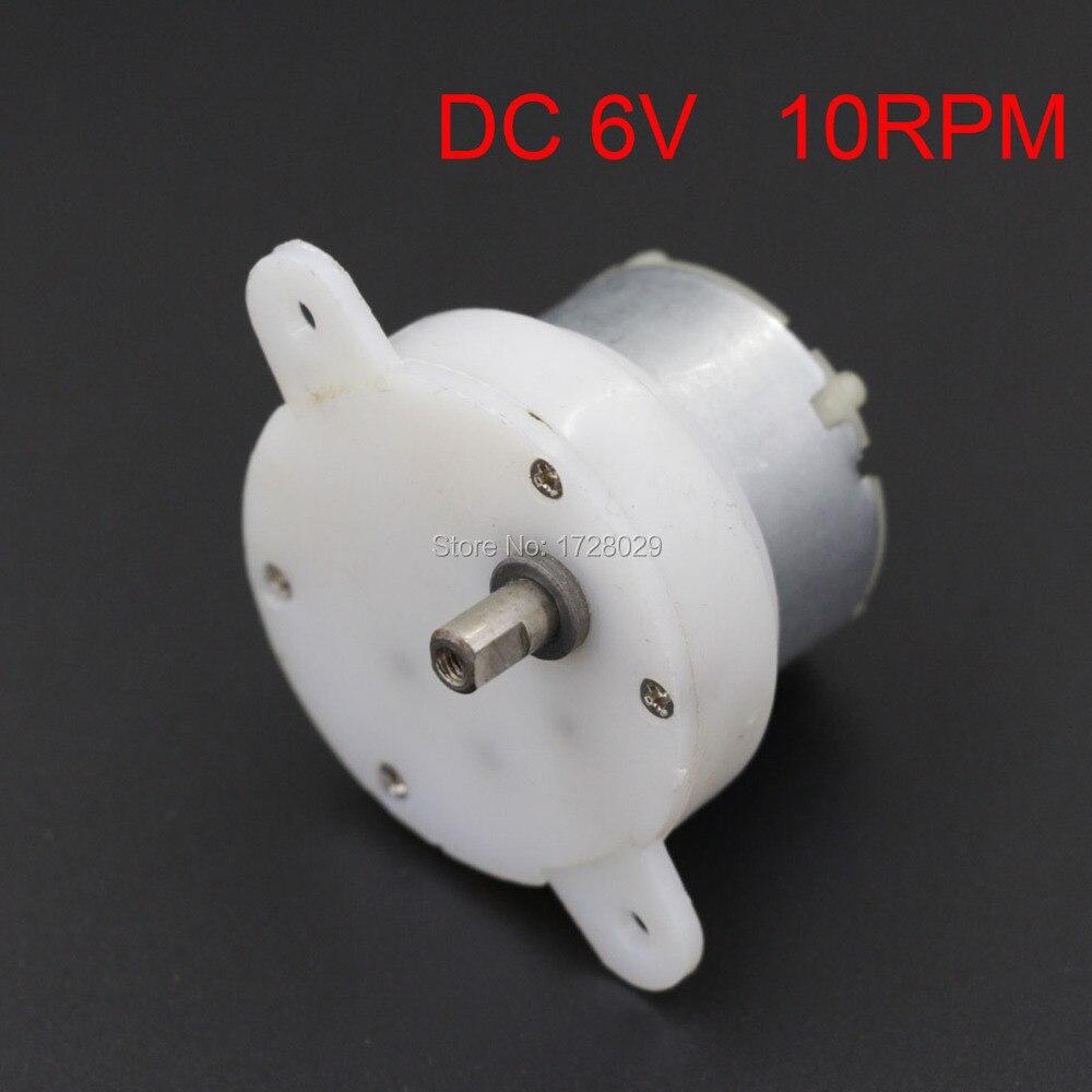 DC 6V 10RPM JS-4 Plastic Shell Speed Reducer Gear Motor 6V Gear Box Motor