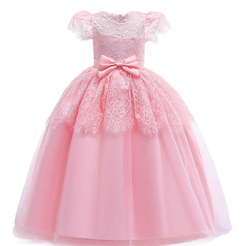 622384afb2a84 2019 Summer Kids Dresses For Girls Princess Dress Flower Girl Wedding  Evening Dress Children Party Dress Teenage 3 8 10 12 Years