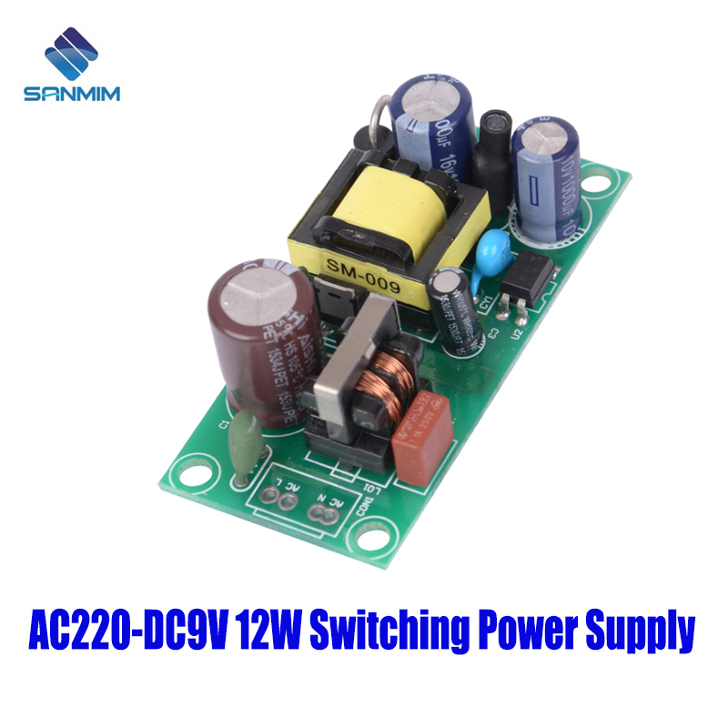SANMIN AC220V-DC9V 1.35A 12W  Power supply Isolated switch power supply module 220 to 9v bare board PLF12B9VSANMIN AC220V-DC9V 1.35A 12W  Power supply Isolated switch power supply module 220 to 9v bare board PLF12B9V