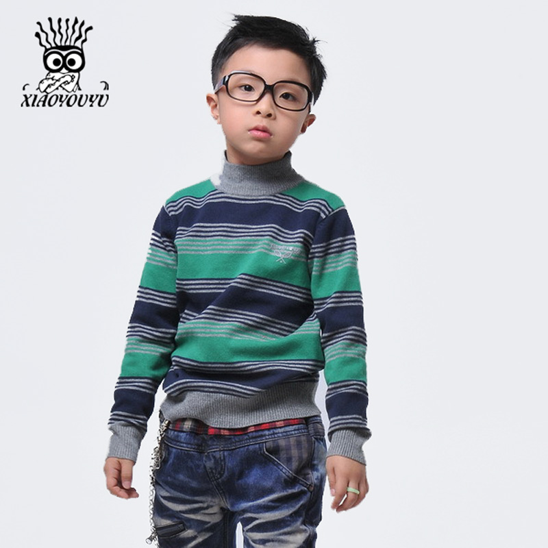 XIAOYOUYU-Size-110-150-Kids-Sweaters-Long-Sleeve-Casual-Style-Stripe-Design-Boys-Warm-Pullovers-Stand-Collar-Children-Clothing-2
