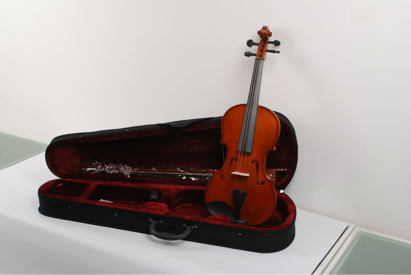 Quality 1/32-4/4 Veneer violin/ from 2 years old children to 100 years old man/gift/solid wood Fiddle +Case+Bow+Rosin+Bridge