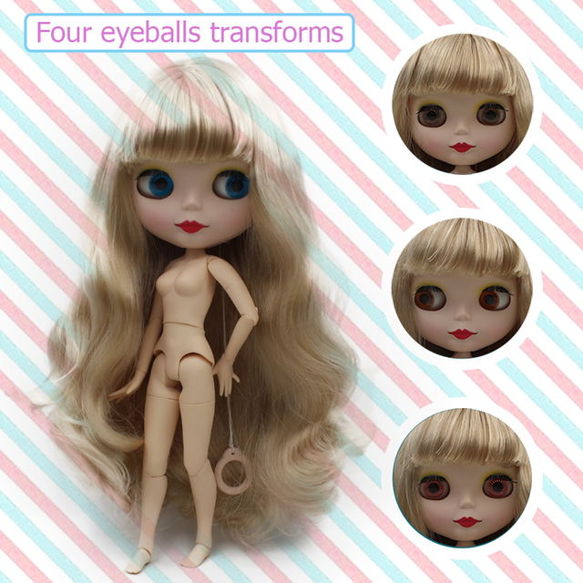 Factory Blyth Doll BJD, Neo Blyth Doll Nude Customized Matte Face Dolls Can Changed Makeup and Dress DIY, 1/6 Ball Jointed Dolls 2
