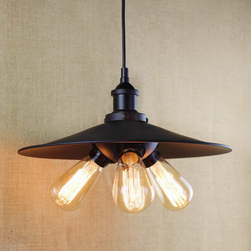 antique black pendant lamp For Kitchen Lights Cabinet Living/dining room/Edison Simple metal shade cover Pendant Light Fixture edison industrial iron body glass shade light for living dining room simple modern pendant lights and lighting indoor lamp