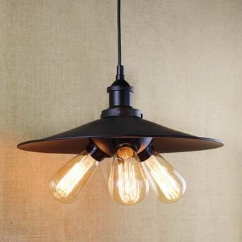 antique black pendant lamp For Kitchen Lights Cabinet Living/dining room/Edison Simple metal shade cover Pendant Light Fixture