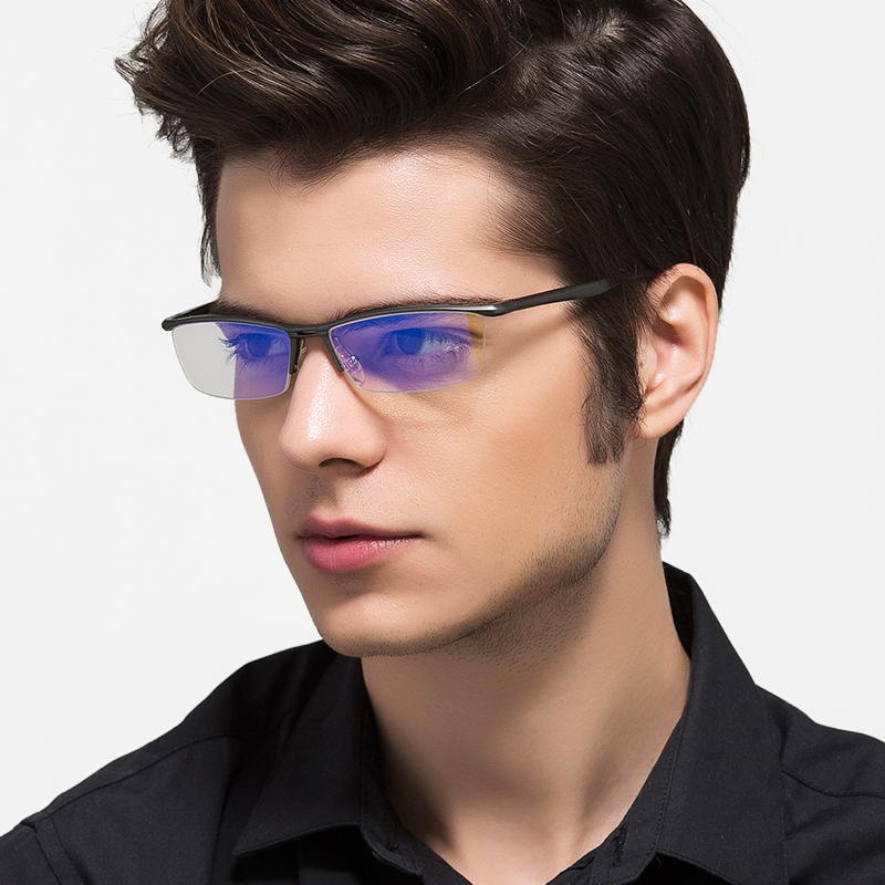 aluminum magnesium anti blue laser fatigue radiation resistant mens optical eyeglasses glasses frame oculos de