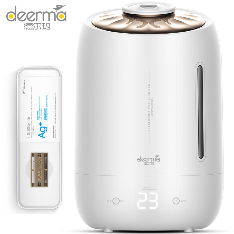 Original Deerma 5L Large Capacity Ultrasonic Humidifier Touch Screen 12 Hours Timing Silent Household Aromatherapy Essential oilOriginal Deerma 5L Large Capacity Ultrasonic Humidifier Touch Screen 12 Hours Timing Silent Household Aromatherapy Essential oil