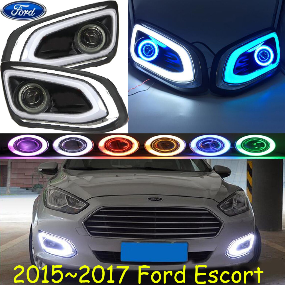Car-styling,ESCORT LED fog lamp,2015~2017,chrome,Free ship!2pcs,ESCORT head light,car-covers,Halogen/HID+Ballast;ESCORT ford escort в спб