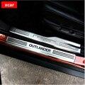 Envío libre! Para Mitsubishi outlander moldura de acero inoxidable travesaño de la puerta placa del desgaste Interno y Externo para outlander accesorios