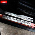 Frete grátis! Para Mitsubishi outlander guarnição de aço inoxidável do peitoril da porta da placa do scuff Interno e Externo para acessórios outlander