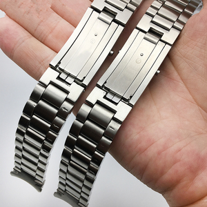 Image 3 - MERJUST AAA Quality 316L 20mm 22mm Silver Stainless steel Watch Bands Strap For omega seamaster speedmaster planet ocean Belt