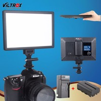 Viltrox L116T Bi Color & Dimmable Slim Camera Video LED Light LCD Display+Battery +Charger for Canon Nikon DV DSLR Camcorder