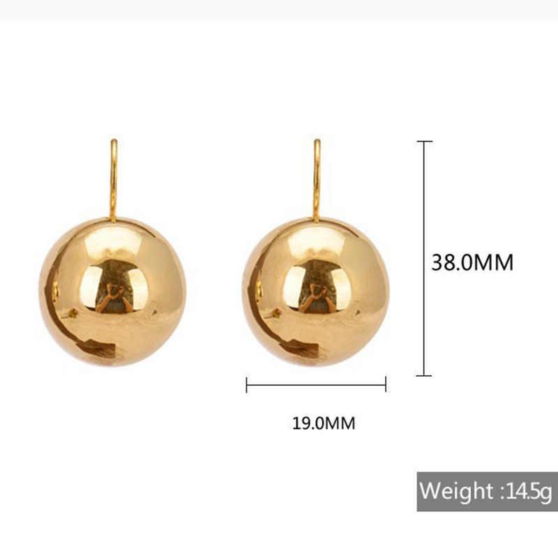 Gold Silver Big Drop Earrings for women Fashion Jewelry  Round Ball Dangling Earrings femme Bijoux Brincos 2018