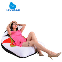 LEVMOON Beanbag Sofa Chair LEI FENG Seat Zac Comfort Bean Bag Bed Cover Without Filler Cotton Indoor Beanbag Lounge Chair
