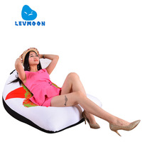 LEVMOON Beanbag Sofa Chair LEI FENG Seat Zac Comfort Bean Bag Bed Cover Without Filler Cotton